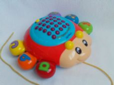 Adorable My 1st 'Vtech Light up Learning Bug' Educational Toddler Pull Along Toy